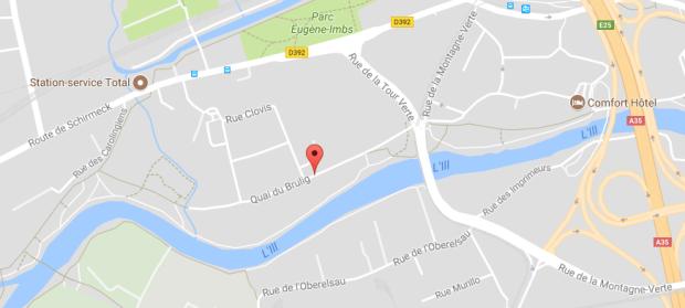 plan quai du Brulig